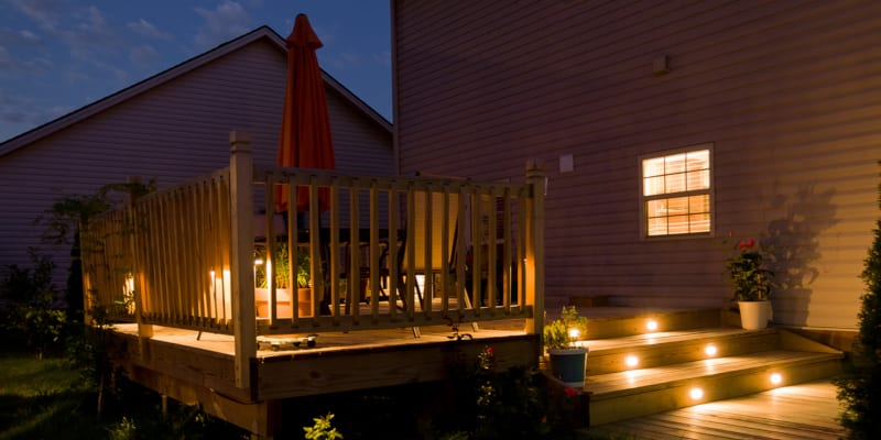 Deck lighting is a wonderful choice for most any deck